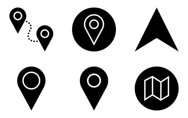 Navigation and Gps Glyph