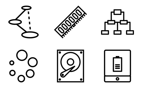 technology and devices set