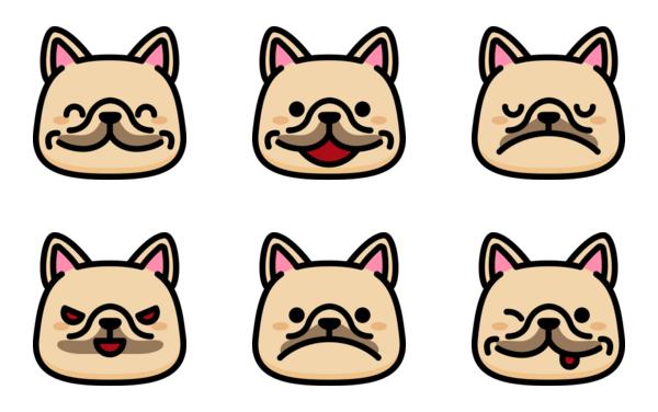 french bulldog emoticons
