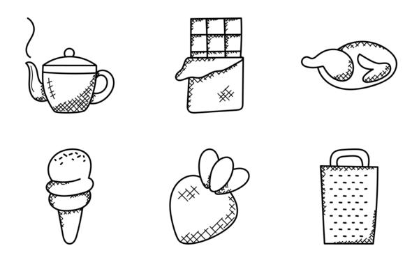 food hand drawn