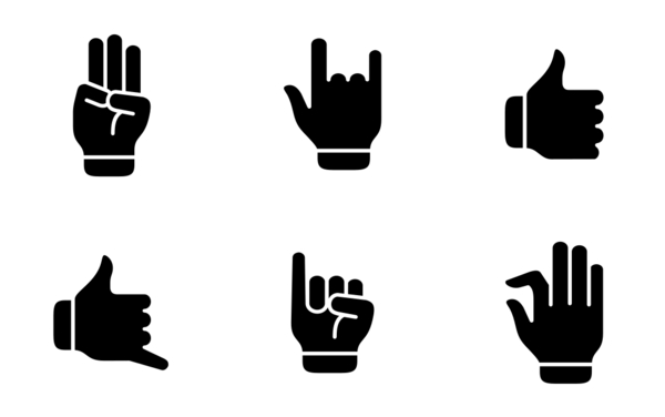 hand gesture and finger action