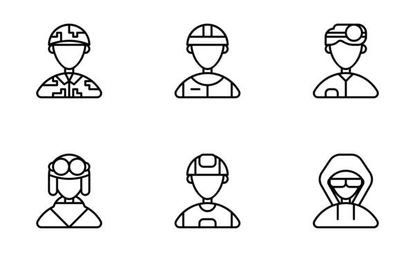jobs and professions avatars