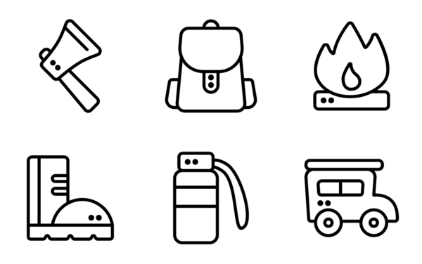 camping outline icon