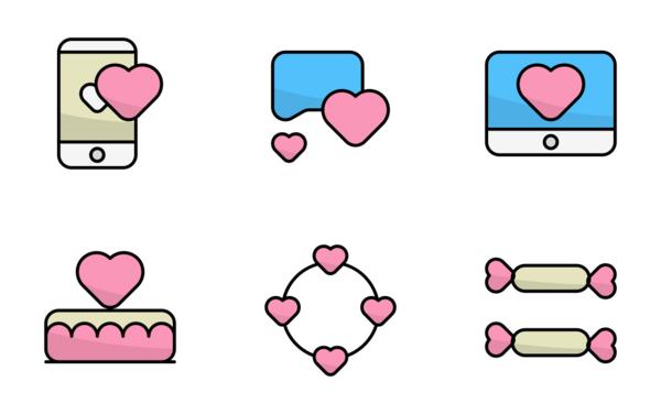 valentine sweet and love