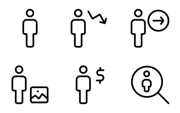 full body single user neutral icons
