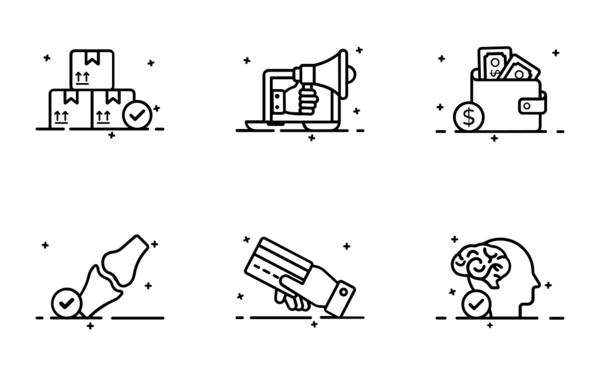 smooth conceptual icons