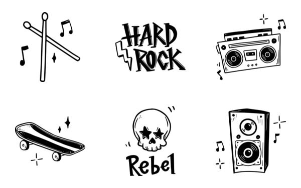 rock doodle sticker